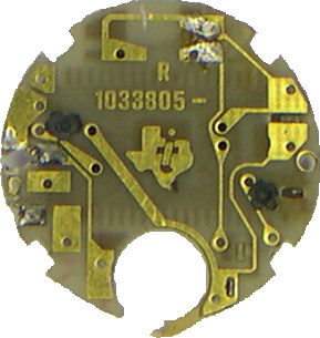 pcb orologio bottom